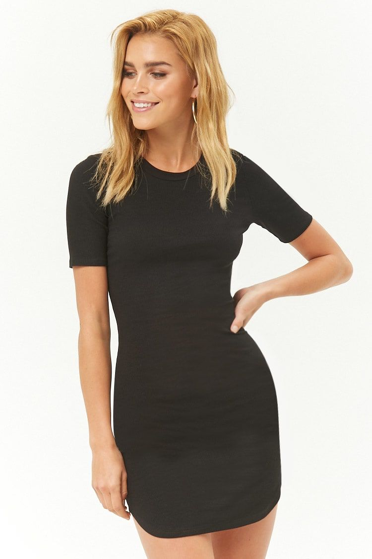 be18e3f4 Ribbed Bodycon T-Shirt Dress | Wife's outfit | Spandex dress ...