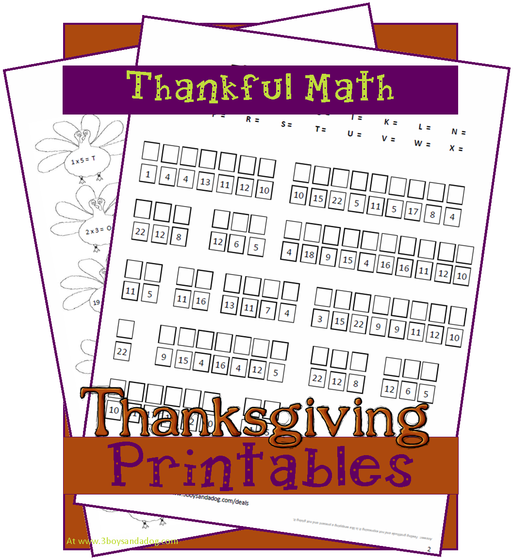 Free Homeschool Printable Thankful Math Reader Request