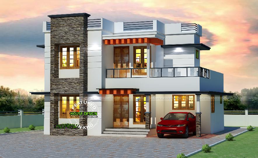 25 Lakhs Cost Estimated Flat Roof Style Kerala Home Design By Mr. Ajmal K  I, Kerala.