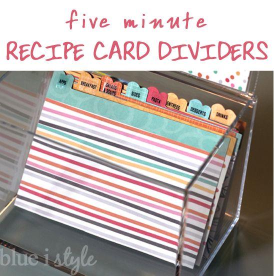 Quick And Cute Recipe Box Dividers Recipe Box Dividers Recipe Box Diy Diy Recipe Cards