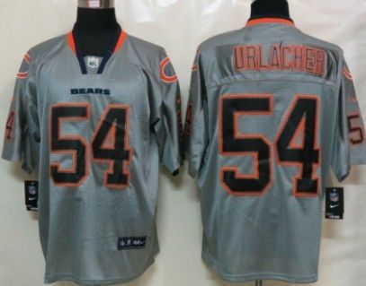 bd91eb6d8 Nike Chicago Bears  54 Brian Urlacher Lights Out Gray Elite Jersey ...