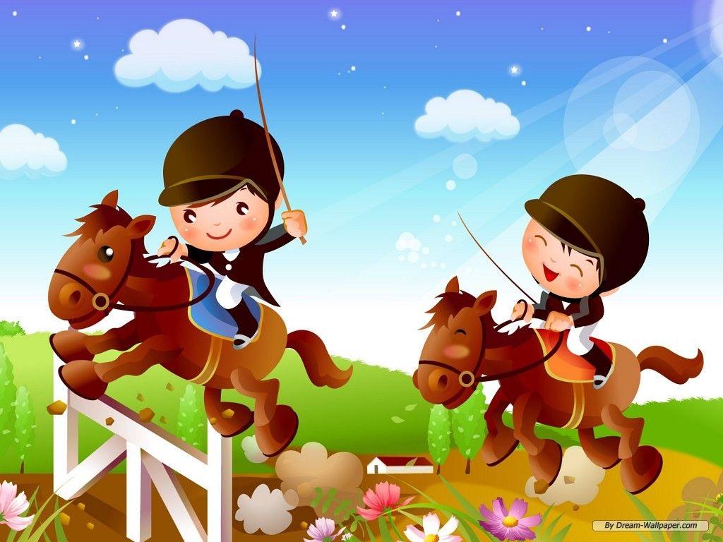 Cartoon Kids Desktop Wallpaper Image Coloring Pages For Girls 1