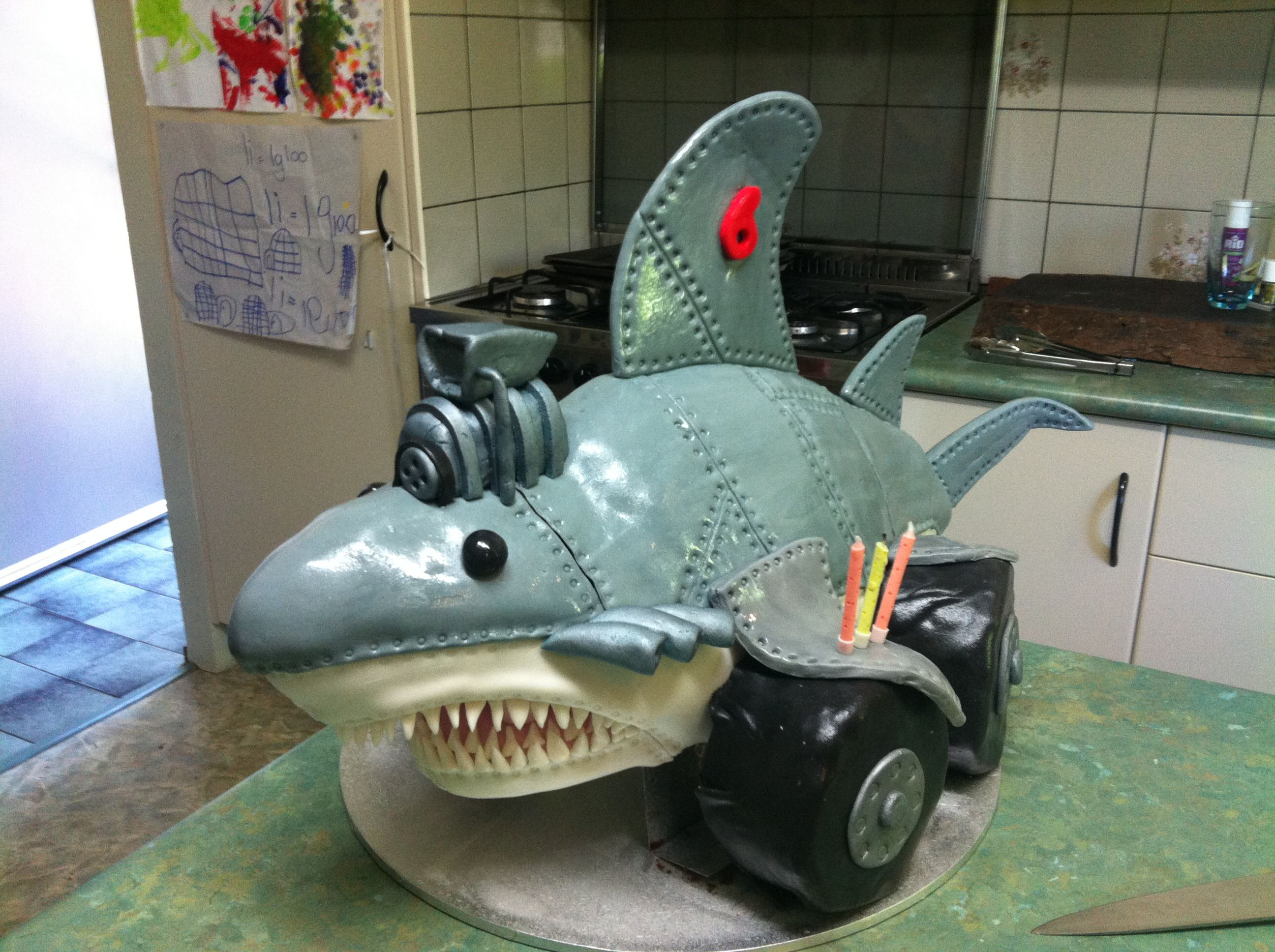 Monster Truck Shark Cake Monster Truck Party Monster Truck Cake Monster Trucks