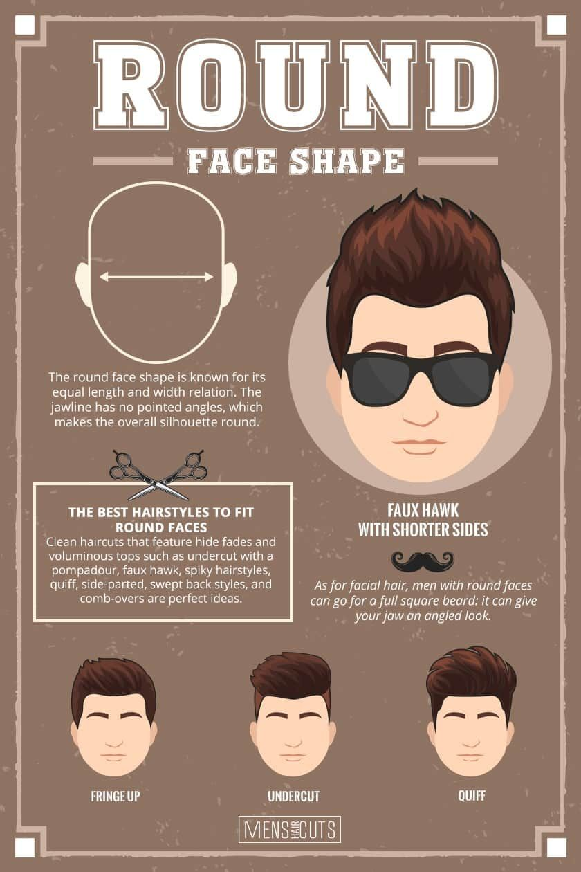 What Haircut Should I Get For My Face Shape Menshaicuts Com In 2020 Round Face Haircuts Haircuts For Round Face Shape Face Shape Hairstyles Men
