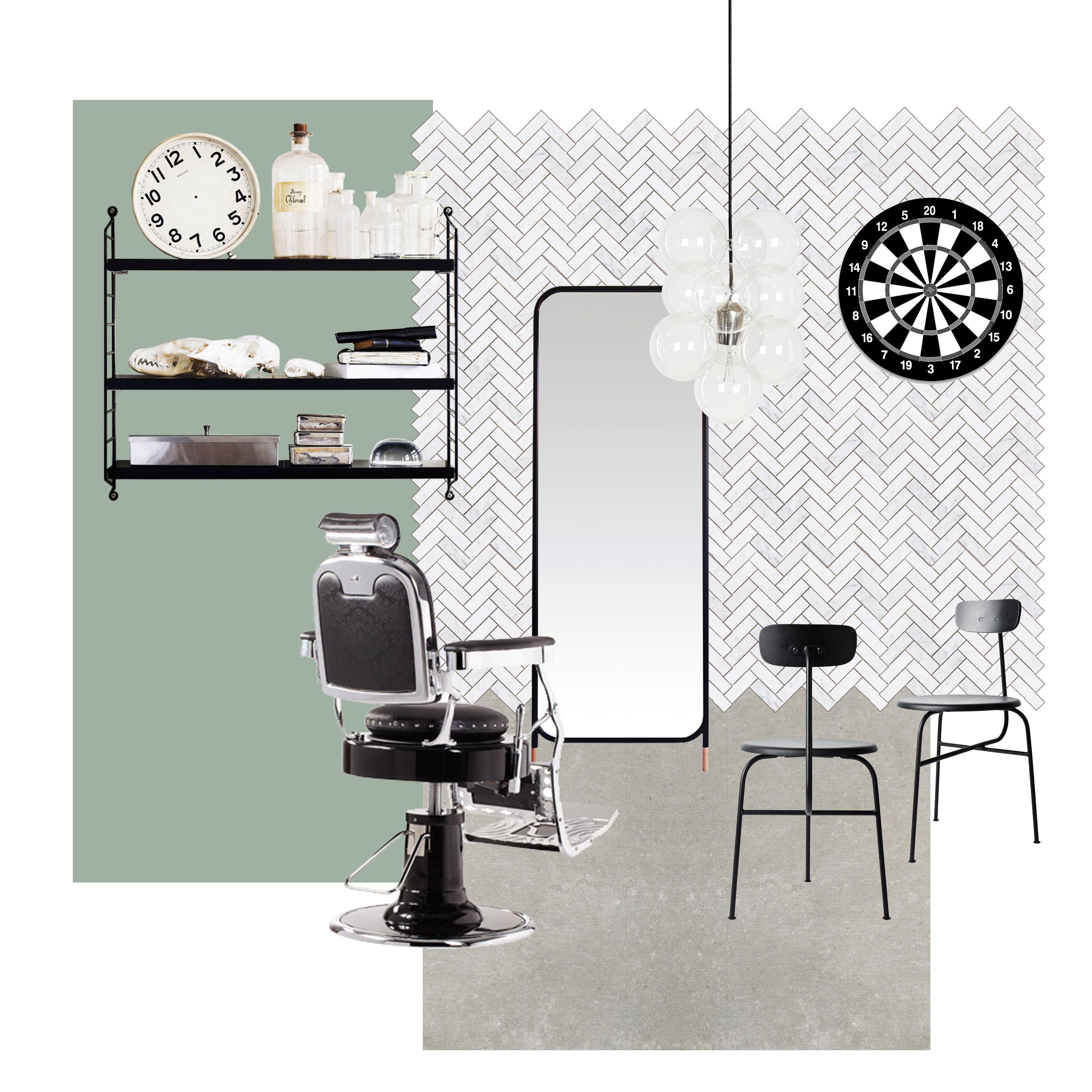 proyecto   diseño   decoración   ambiente   barbería. - Blog