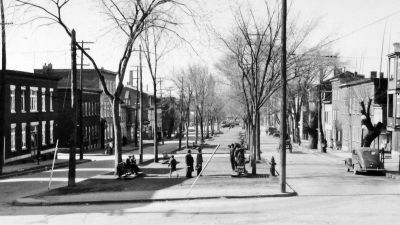 """Boulevard Langelier, avril 1941, Ville de Québec, service de police, Archives du service de l'aménagement du territoire, tiré de l'article """"Saint-Sauveur dans les années 1940 (8): boulevard Langelier"""" par Jean Cazes sur le site http://blogue.monsaintsauveur.com/."""