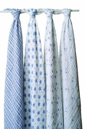 aden + anais Classic Muslin Swaddle Blanket 4 Pack, Prince Charming by aden + anais, http://www.amazon.com/dp/B002SW3AXW/ref=cm_sw_r_pi_dp_ZpIXrb0KWF7TE