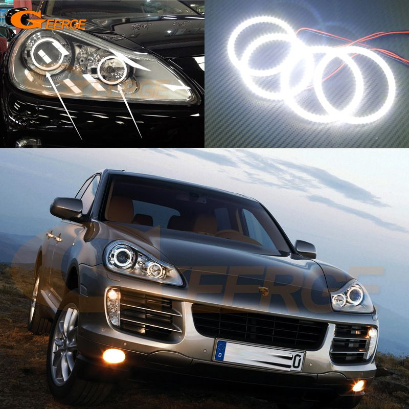 For Porsche Cayenne 957 2007 2008 2009 2010 Excellent Angel Eyes Ultra Bright Illumination Smd Led Angel Eyes Bright Headlights Porsche Cayenne Led Angel Eyes