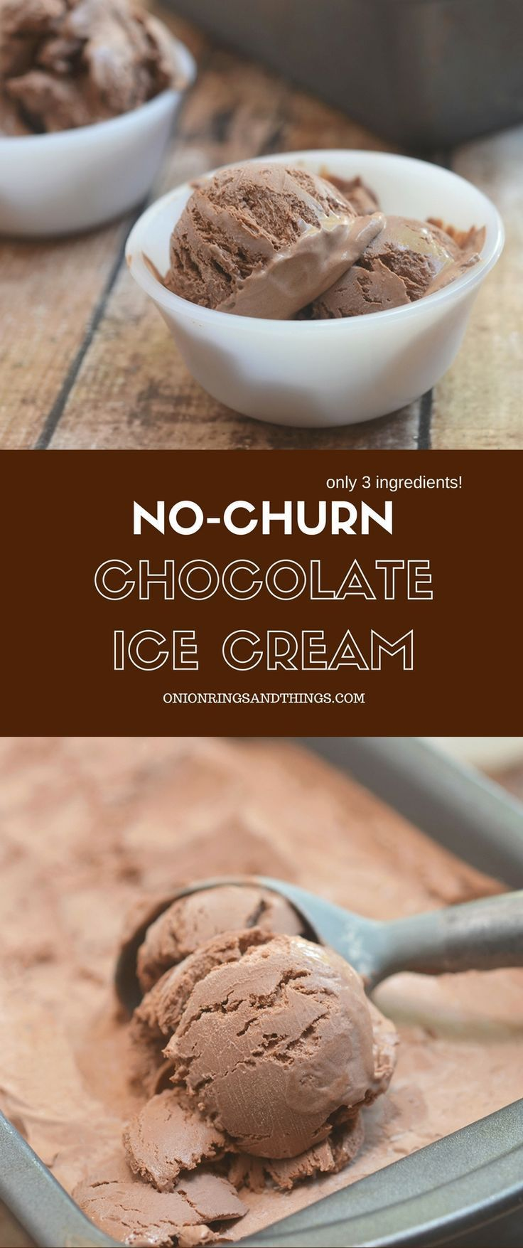 Nochurn Chocolate Ice cream made with only 3 ingredients and no ice cream maker needed Creamy and with the most intense chocolate flavor its a must for summer artesanales...