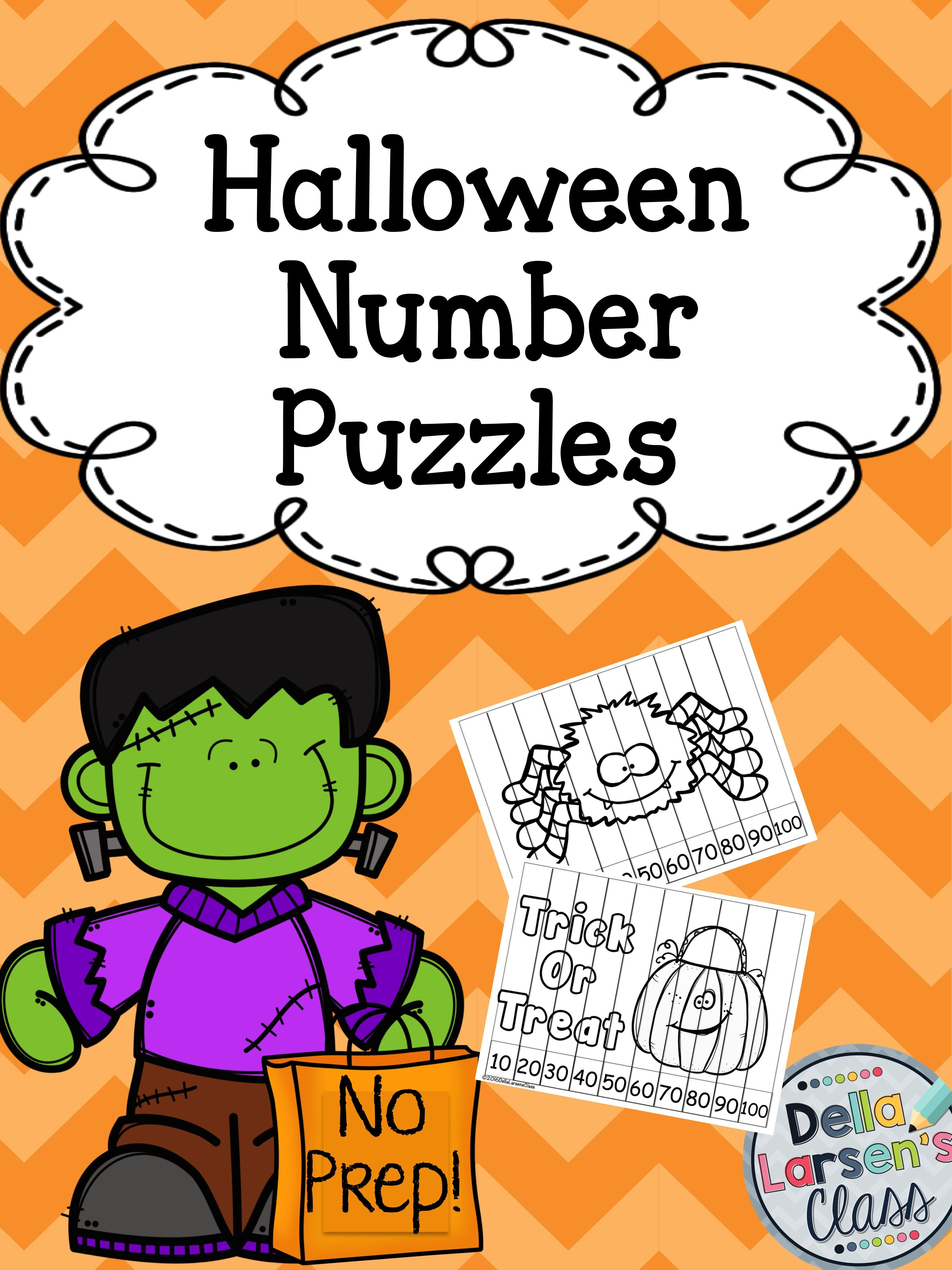 Halloween no prep number puzzles robcynllc Image collections