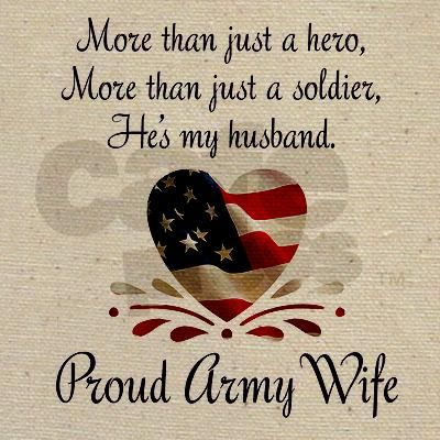 Proud Army Wife Tote Bag Army Wife Army Military