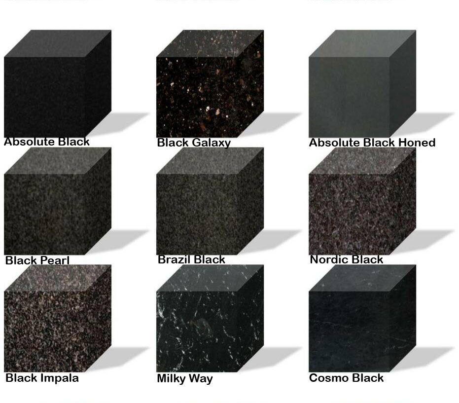 Black Granite Countertops Contemporary Kitchen Redesign