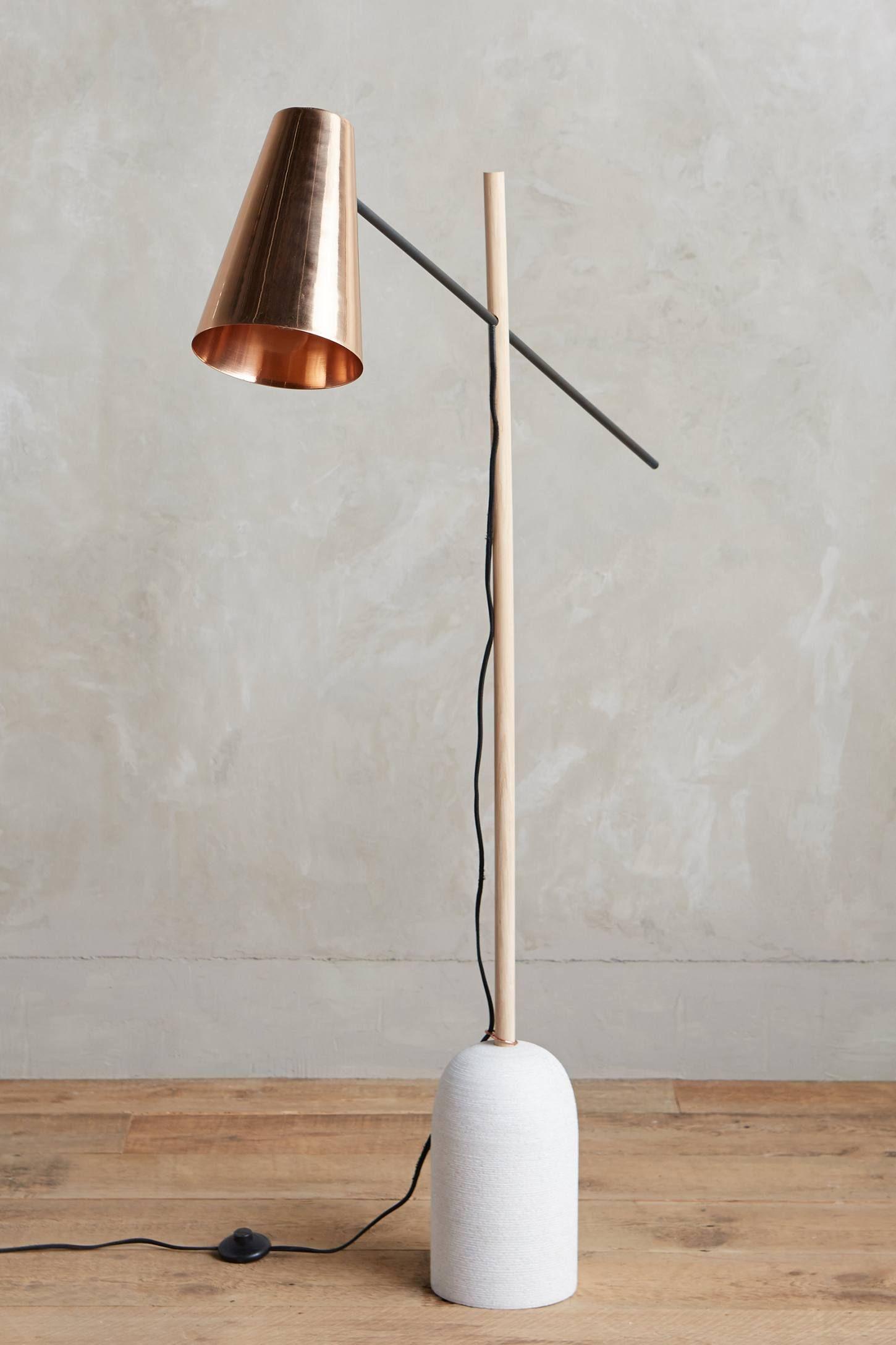 Slanted Copper Floor Lamp Copper Floor Lamp Floor Lamp Copper Table Lamp