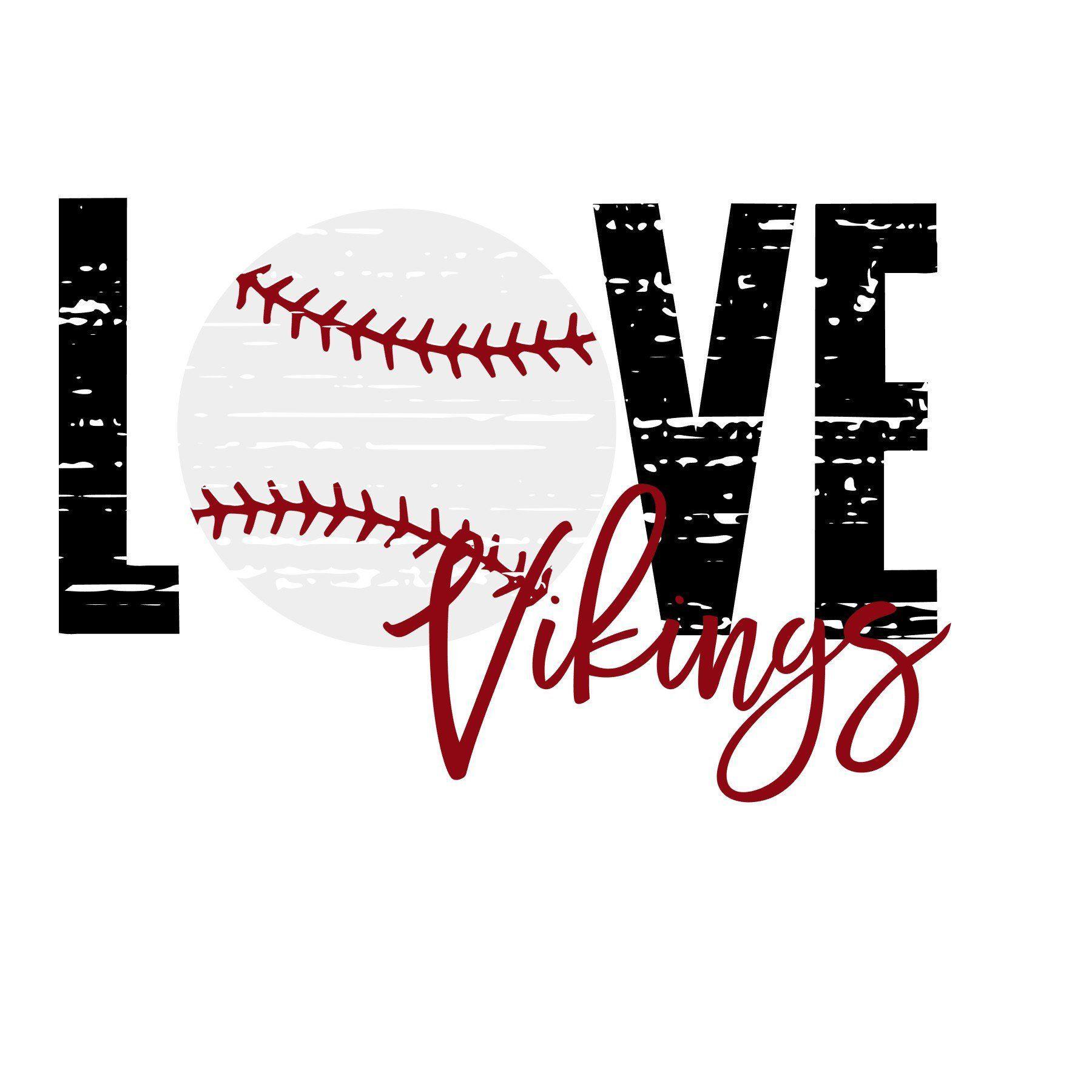 Download Love Distressed Vikings Baseball SVG   Baseball, Vikings ...