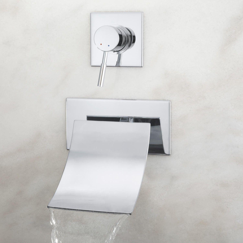 reston wall mount waterfall tub faucet