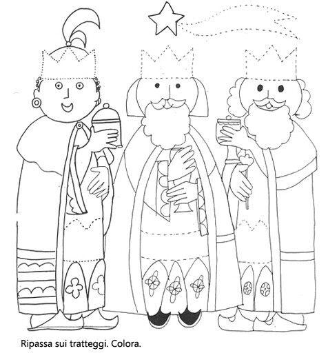 Re Magi Pagine Da Colorare Colori Di Natale E Schede Natale