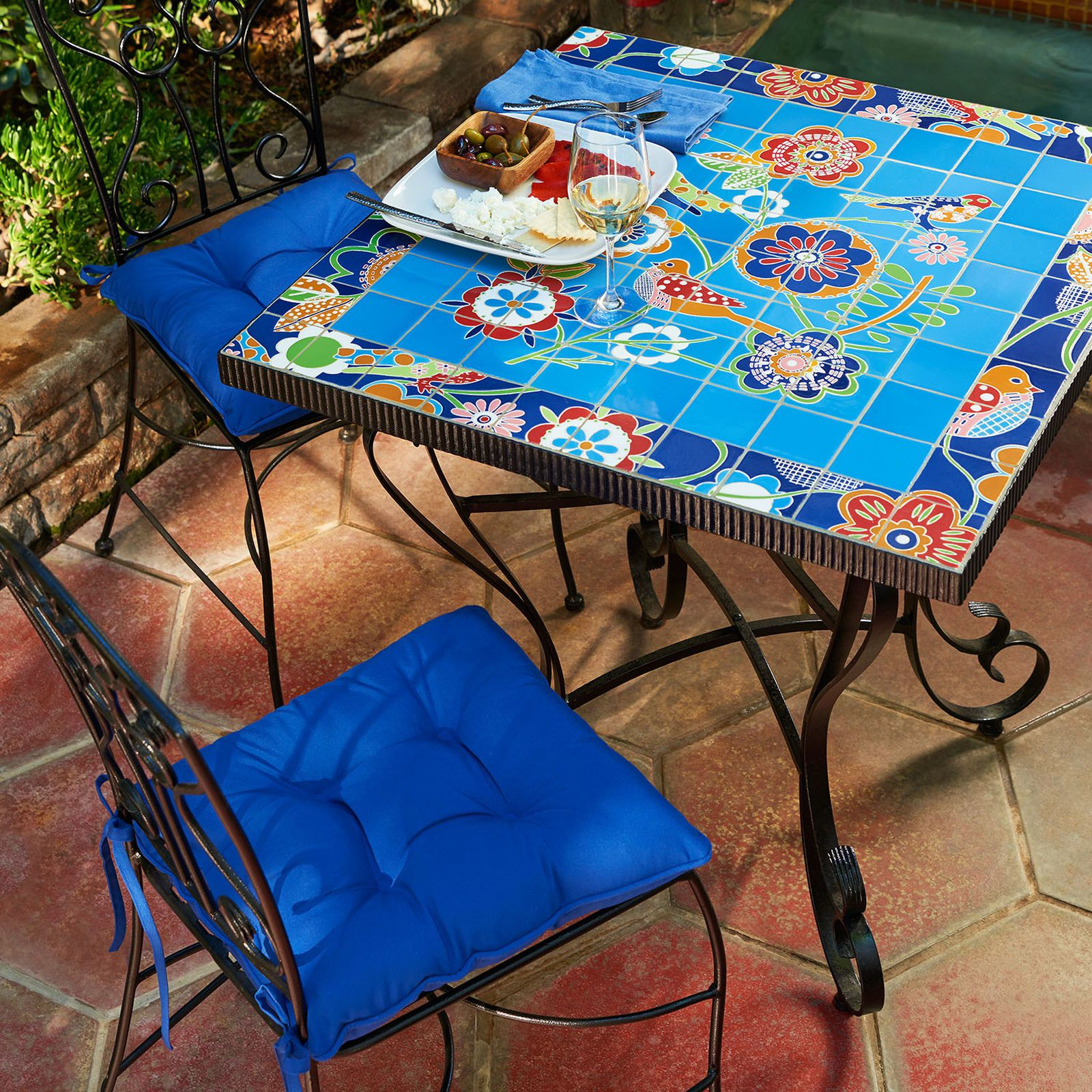 Deco Birds Mosaic Dining Set