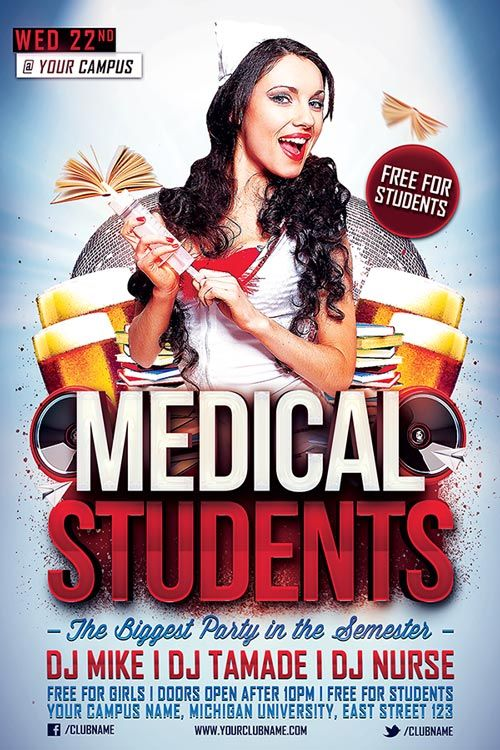 Medical Students Party Flyer Template - http\/\/ffflyer\/medical - party flyer
