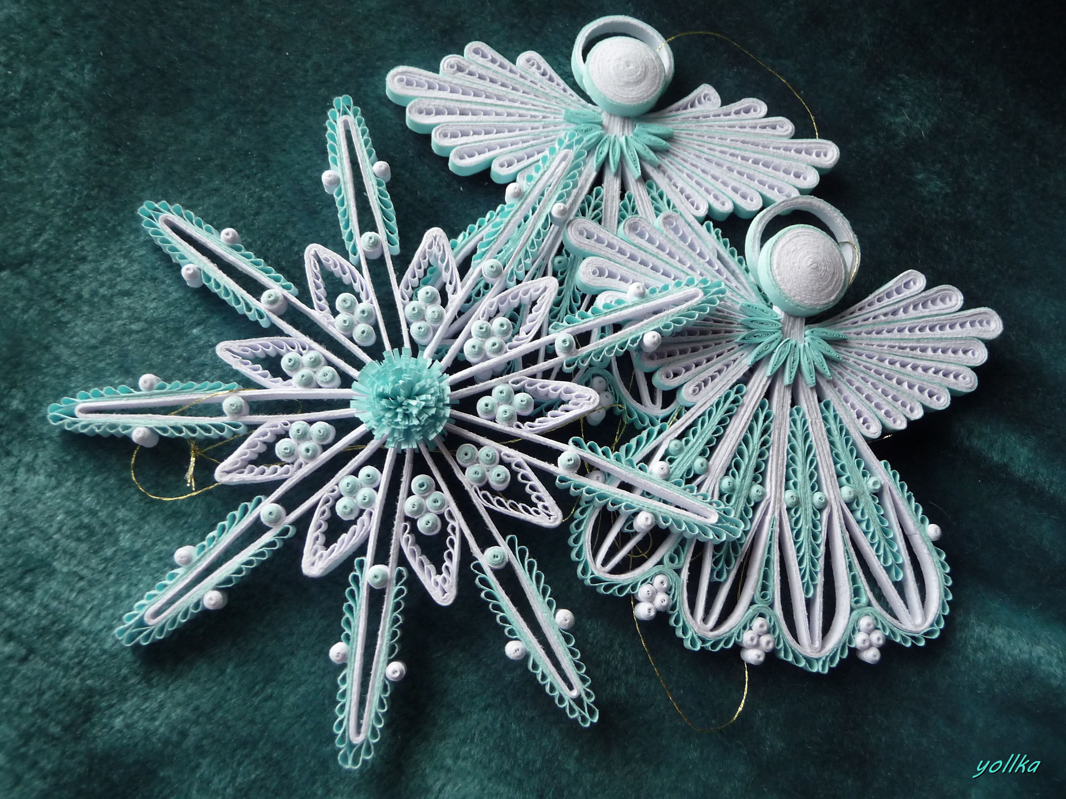 Pin by her paper paradise on quilling christmas for Deco quilling