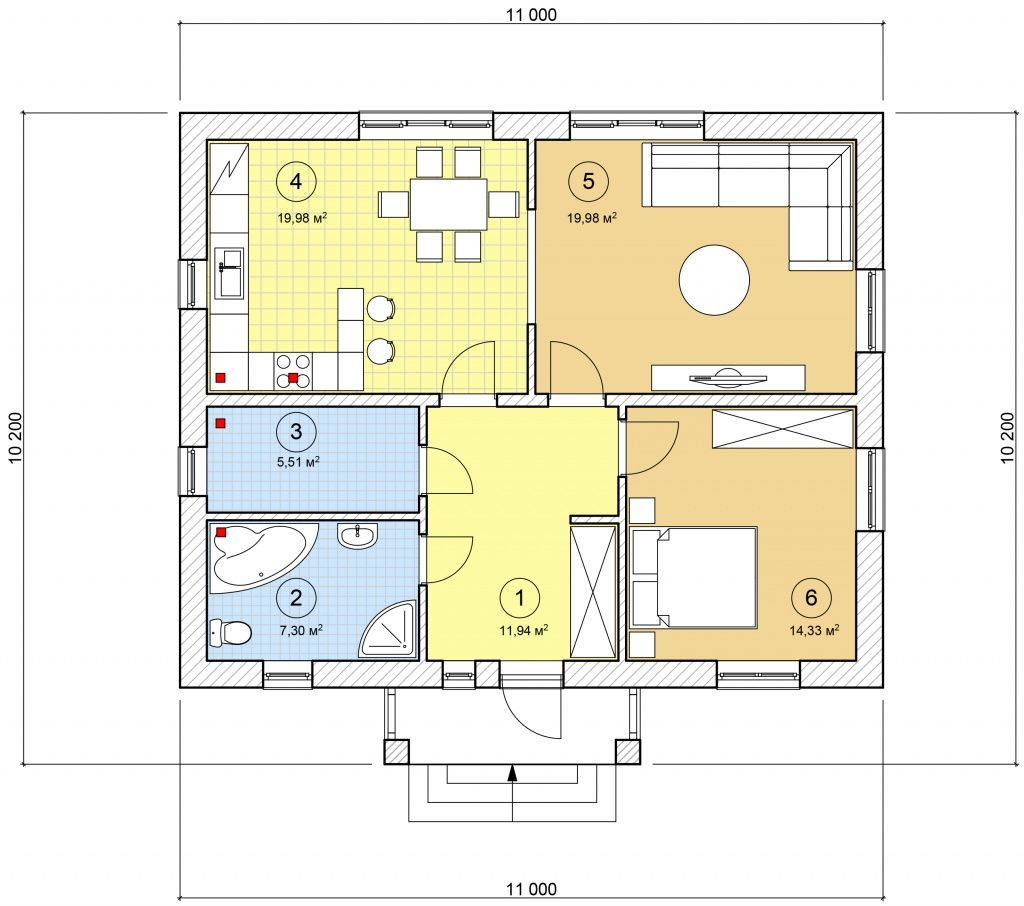 Планировки одноэтажных домов в картинках