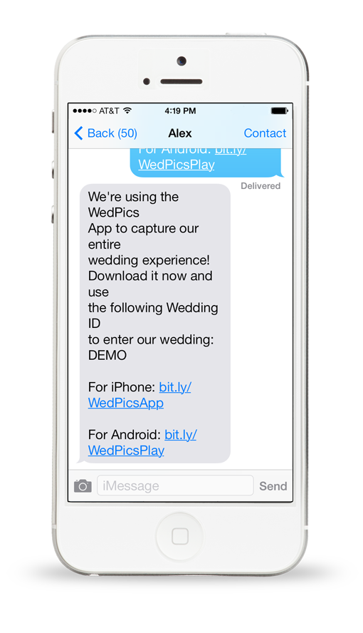Invite text message invitationjpg wedpics wedding app how to invite your guests the 1 stopboris Image collections