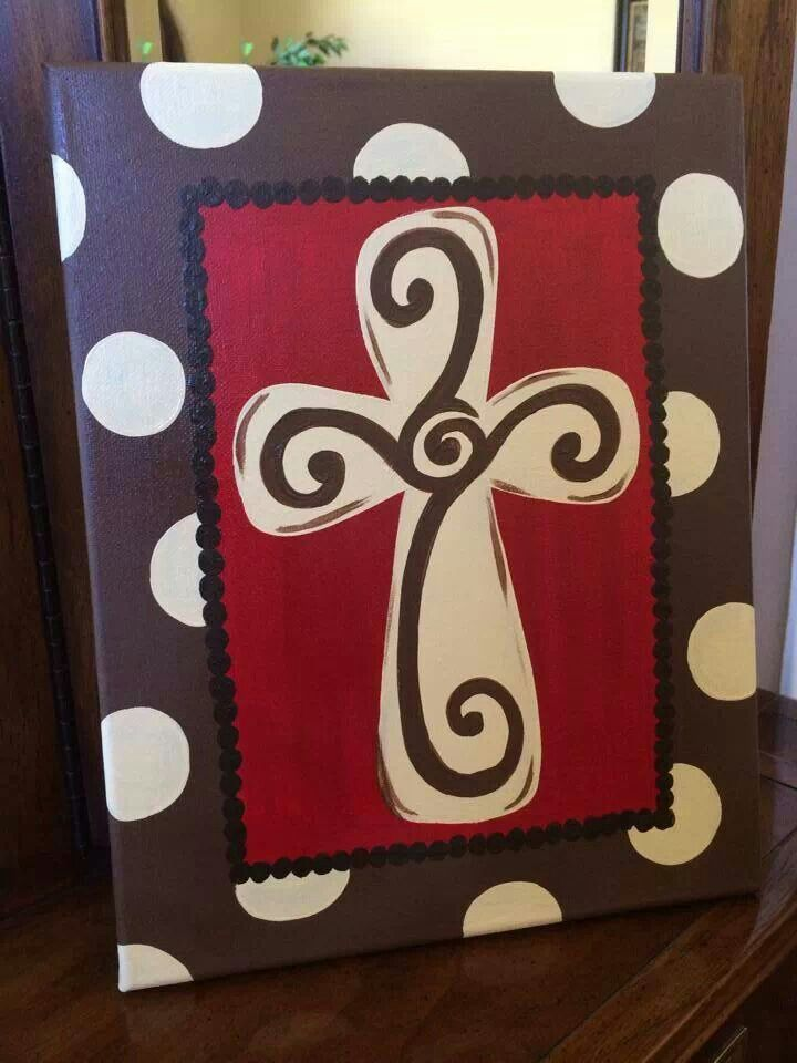 Cross On Canvas PaintingsEasy