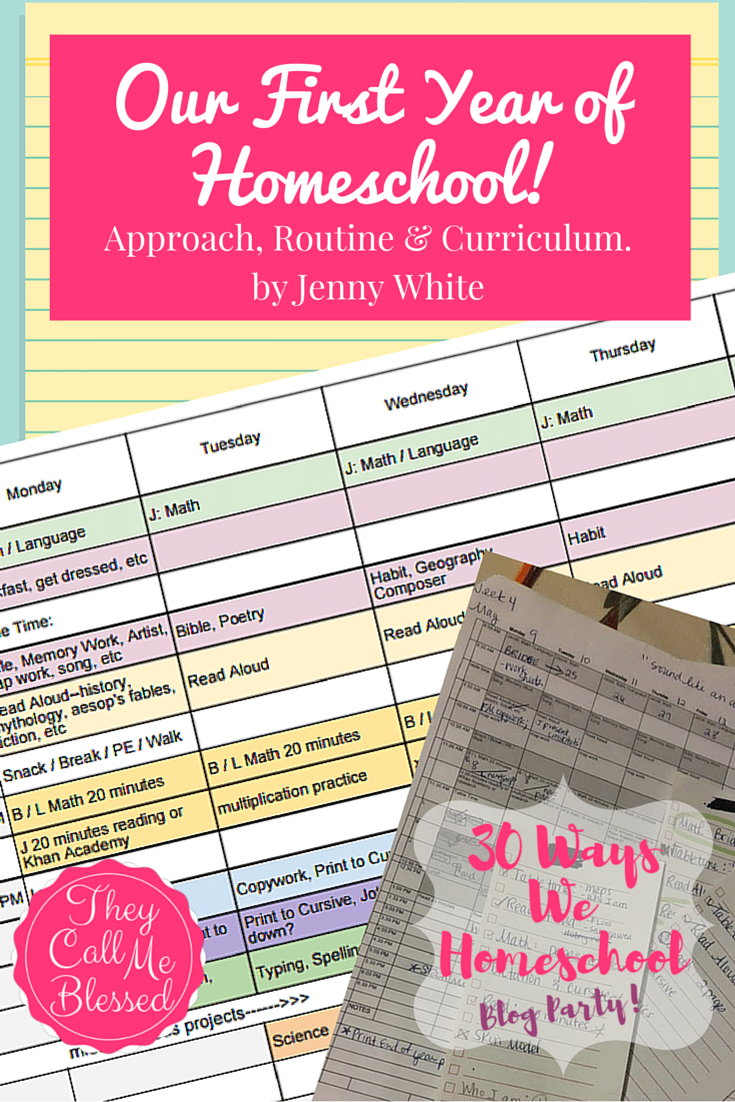 Our First Year of Homeschool Approach, Routine