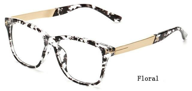 d21a3a3f47 Ralferty Fashion Square Glasses Women Men Eyeglasses Frame With Clear Lens  Vintage Optic Myopia Frames Brown