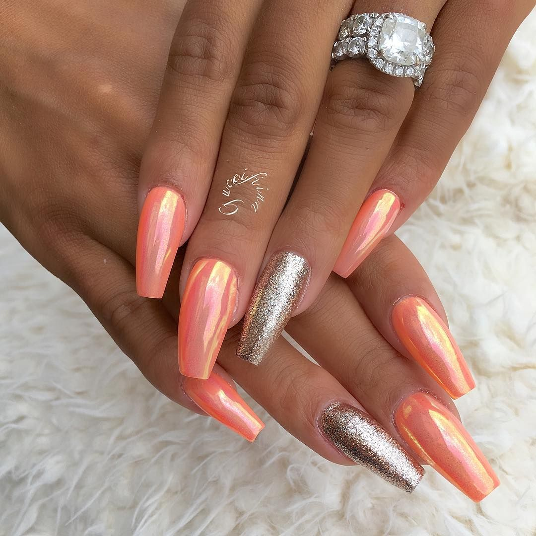 Nail art design ideas | coffin nails | glitter nails | for summer ...
