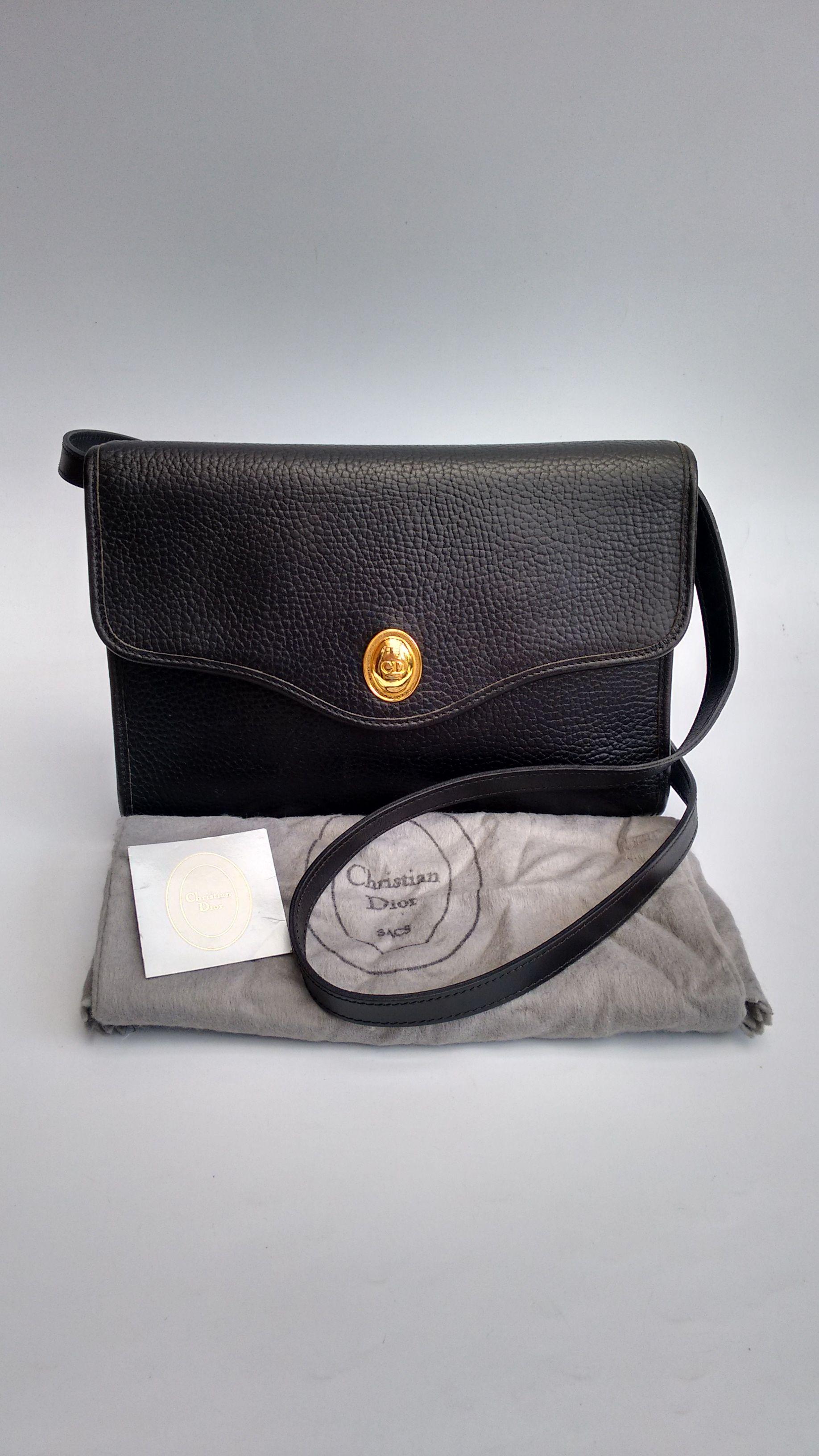 Dior Bag Christian Dior Vintage Black Leather Shoulder Etsy Dior Bag Christian Dior Vintage Christian Dior Bags