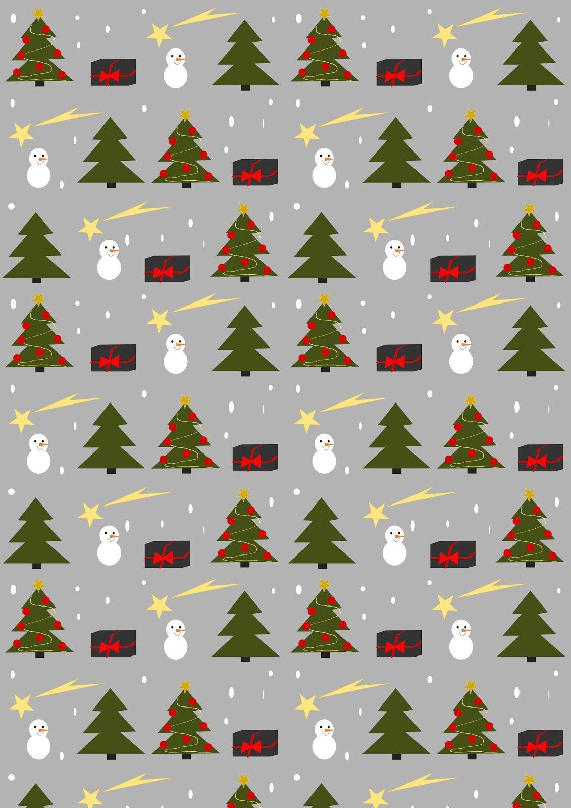 Free Printable Christmas Joy Wrapping Paper
