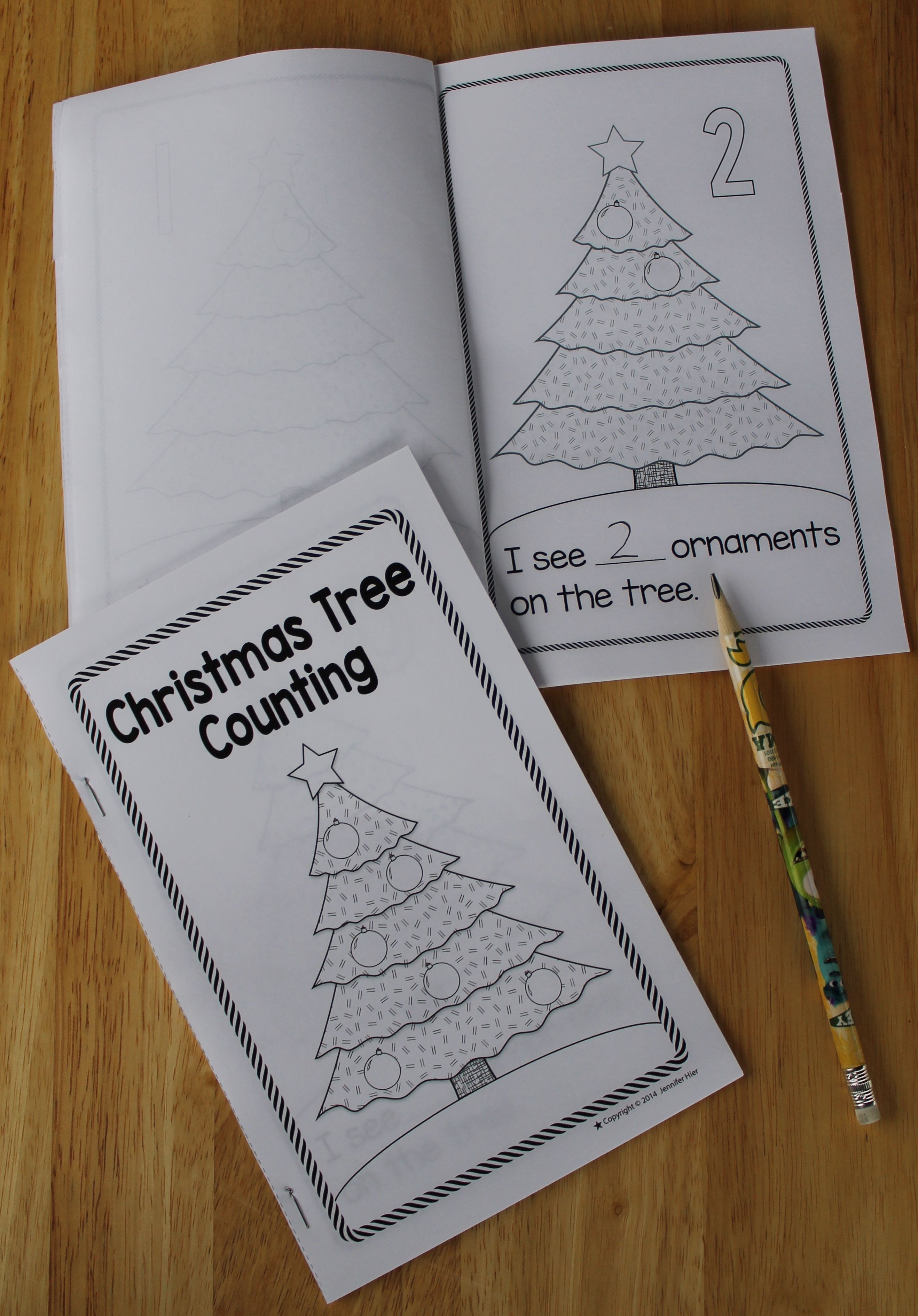 Christmas Activity Christmas Tree Counting Emergent Reader Christmas Kindergarten Christmas Worksheets Christmas Learning [ 3780 x 2637 Pixel ]