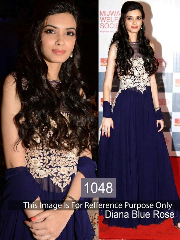 Diana Penty Blue Replica Gown From Skysarees | Bollywood Replica ...
