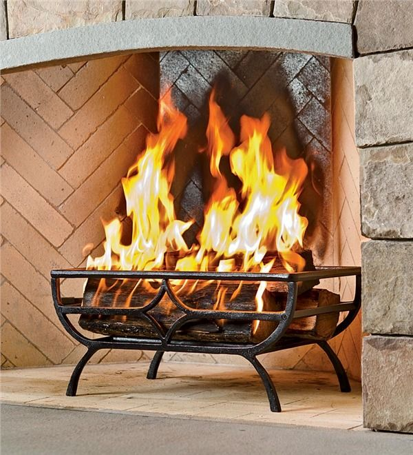 Main Image For Cast Iron Log Basket, How To Clean Cast Iron Fireplace Grate