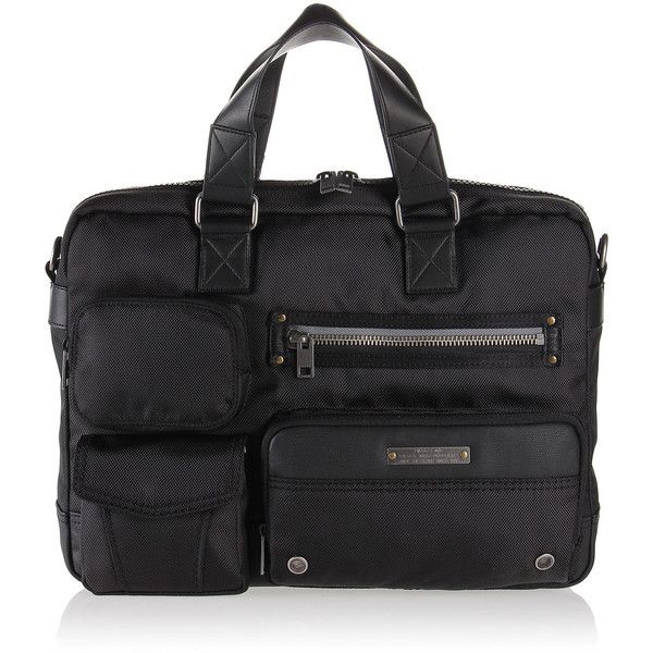 Diesel GEAR CASE Briefcases (360 BRL) ❤ liked on Polyvore featuring men's fashion, men's bags, men's briefcases, bags, black, briefcases, men, mens briefcase, mens courier bag and mens messenger bags