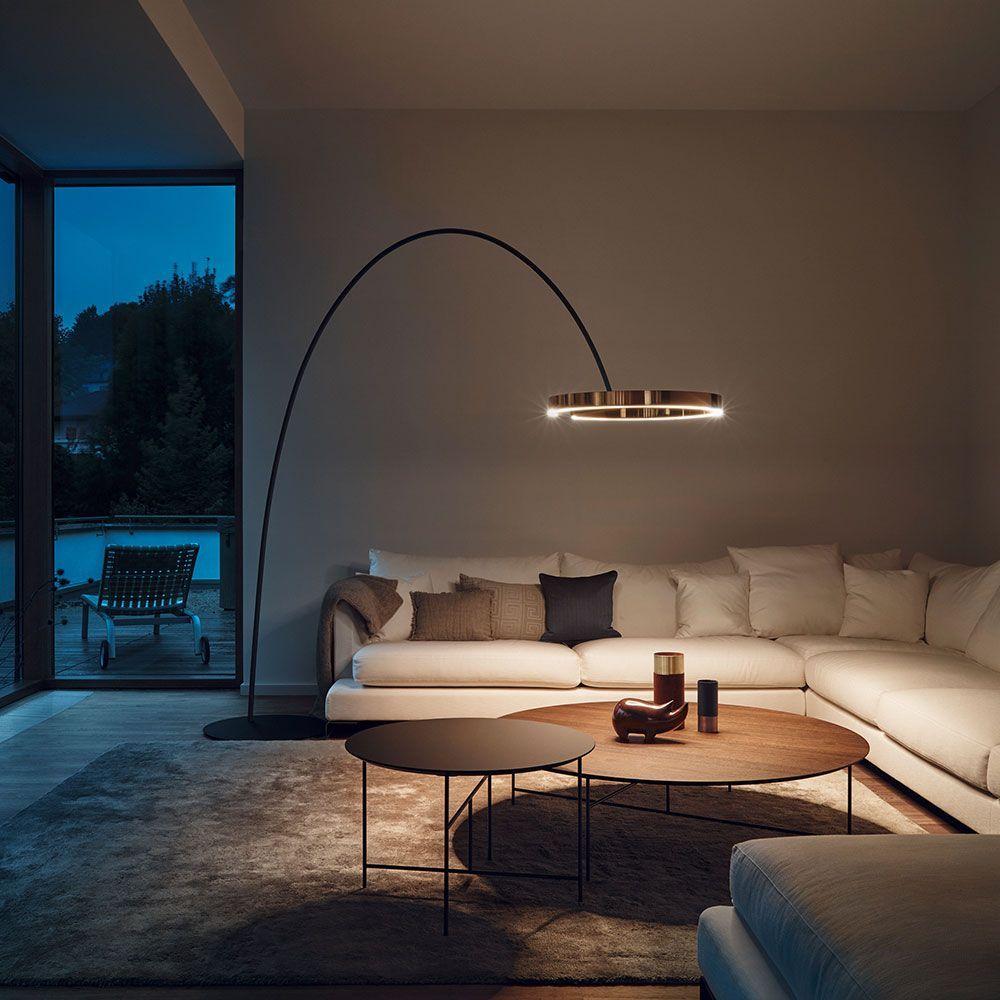 Occhio Mito largo LED Bogenleuchte   Bogenleuchte, Lounge beleuchtung, Wohnzimmerbeleuchtung