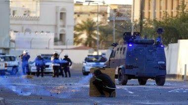 شبكة قنوات المناهل (2015) (1): دولة البحرين المحتلة - إصابة 3 من الشرطة المرتزقة ...