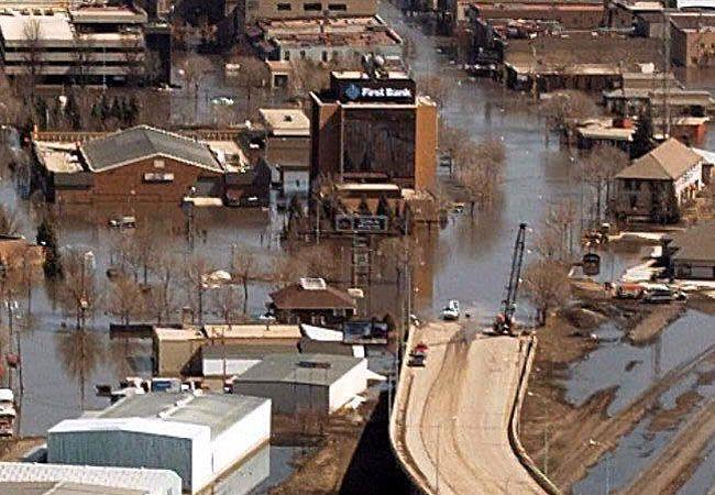 The Flood Of 97 Downtown Grand Forks North Dakota Usa Red River Red River Valley Grand Forks North Dakota