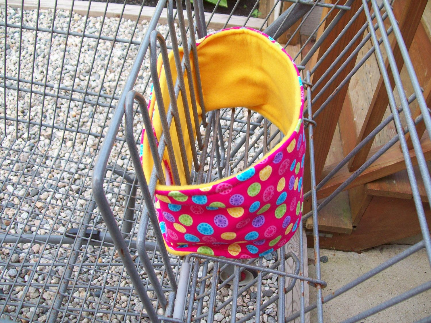 Baby Strap-Eez Shopping Cart Support Strap, Padded Shopping Cart Strap, Padded Pink Shopping Cart Cover Strap. $14.00, via Etsy.