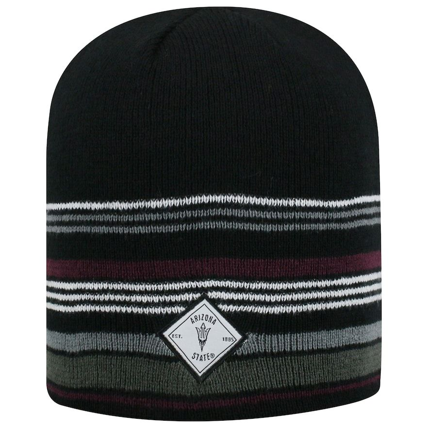 new style 38cd4 3fd40 Adult Top of the World Arizona State Sun Devils Avenue Beanie, Black