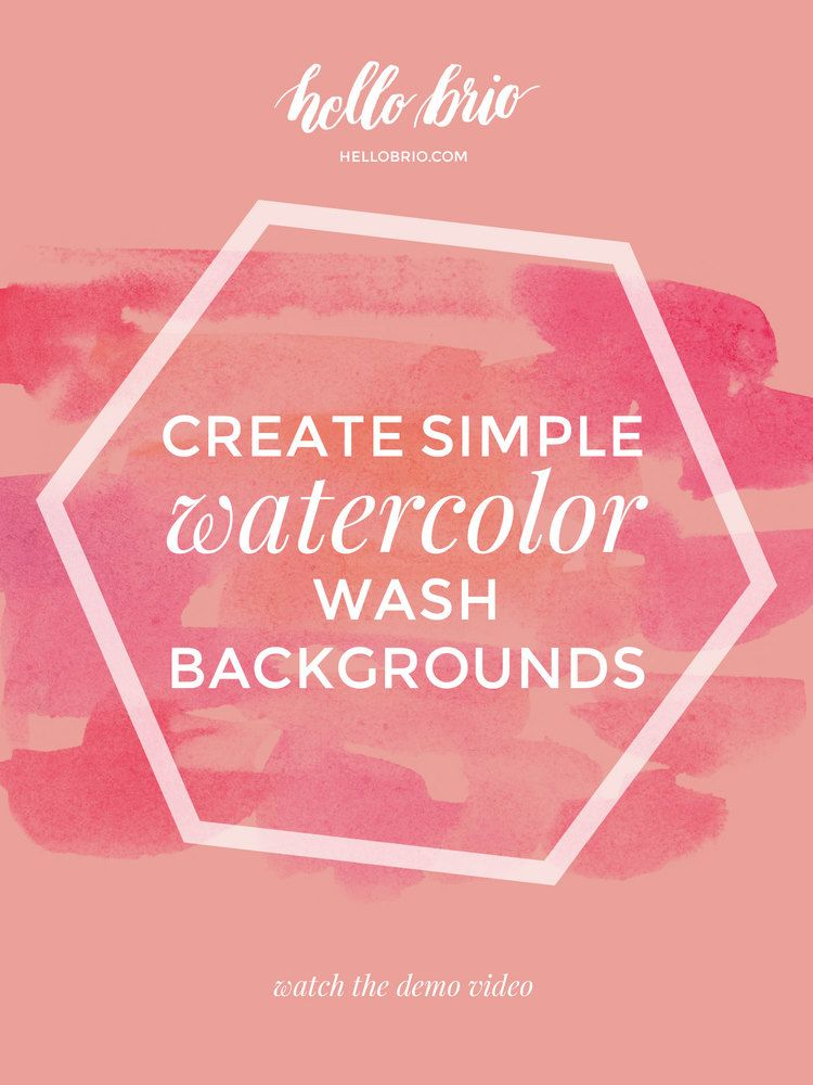 Create Simple Watercolor Wash Backgrounds Easy Watercolor