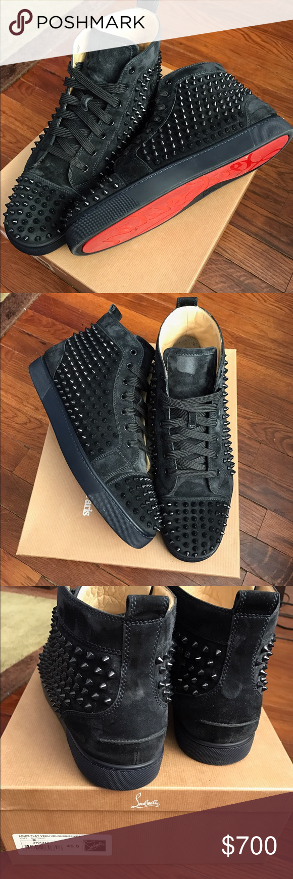 best service dca3d 8c939 Men's authentic Christian louboutin sneakers Used but ...
