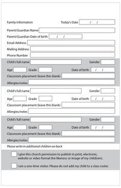 Updated Visitor Intake Form Perfect