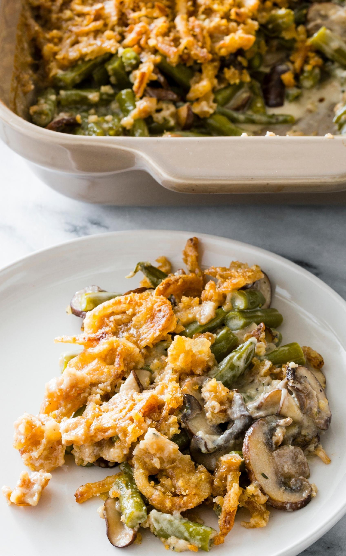 ExtraCrunchy Green Bean Casserole. Crunchy greens