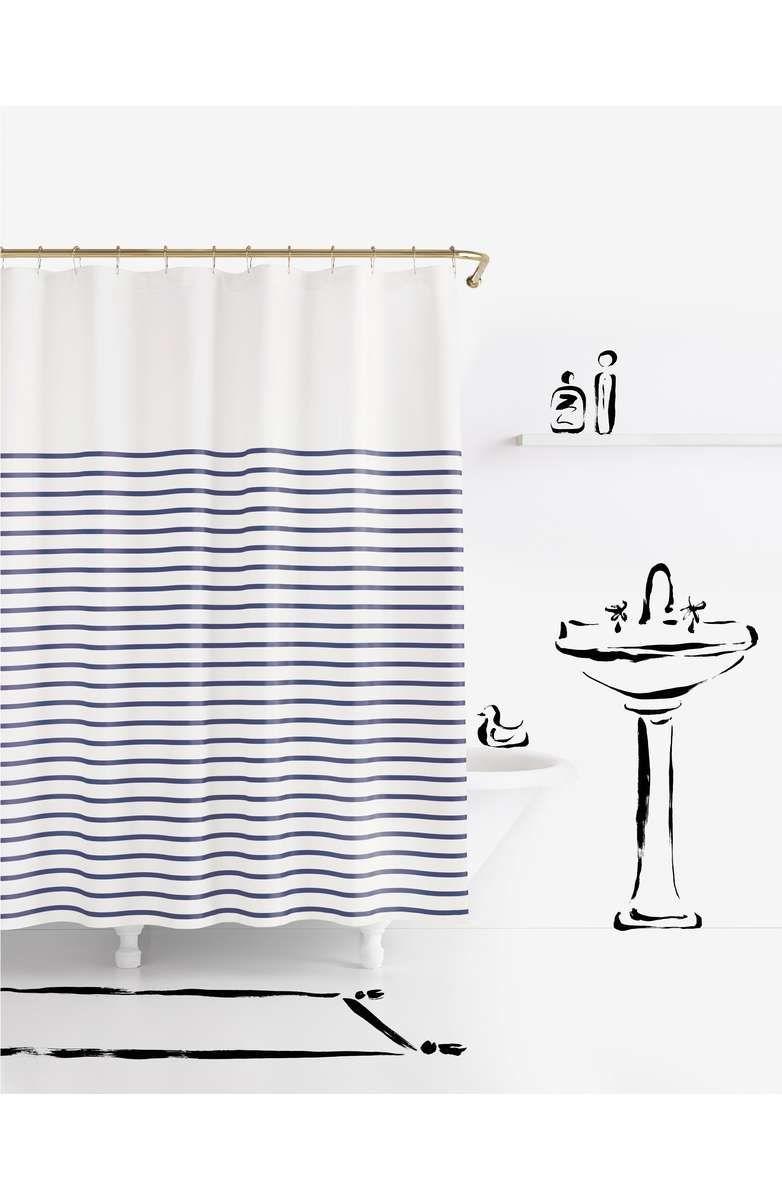 Kate Spade New York Harbour Stripe Shower Curtain Striped