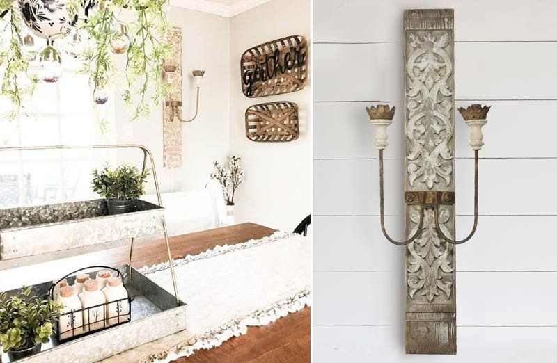 Rustic Pillar Wall Sconce Light Wall Sconces Chandelier Decor Wall Sconce Lighting