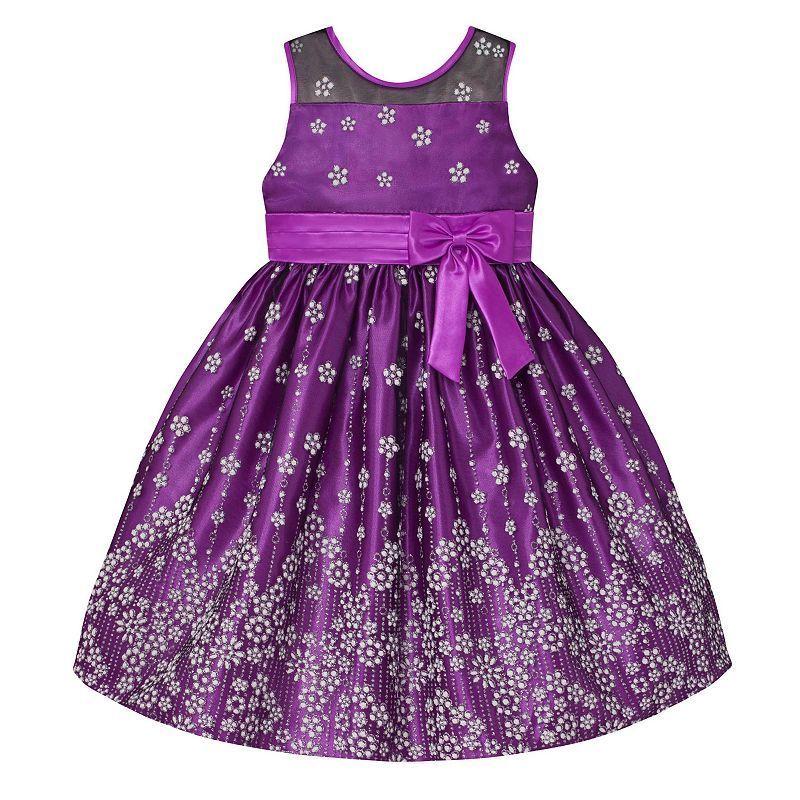 9475576cdb919 Girls 7-16   Plus Size American Princess Glitter Flower Illusion Dress