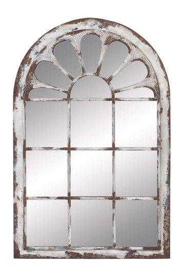 Willow Row White Washed Metal Wall Panel Mirror Hautelook Mirror Wall Decor Farmhouse Wall Mirrors Metal Wall Panel