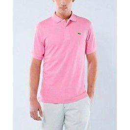 Men Polo Shirt, Short Sleeve, Light Pink Color | Polo Lacoste ...