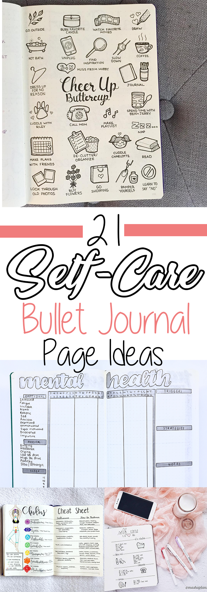 21 Motivational Self-Care Bullet Journal Pages You'll Want to Try ⋆ The Petite Planner
